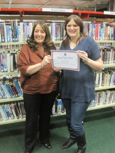 Me with Mari Hannah who presented me with the award.